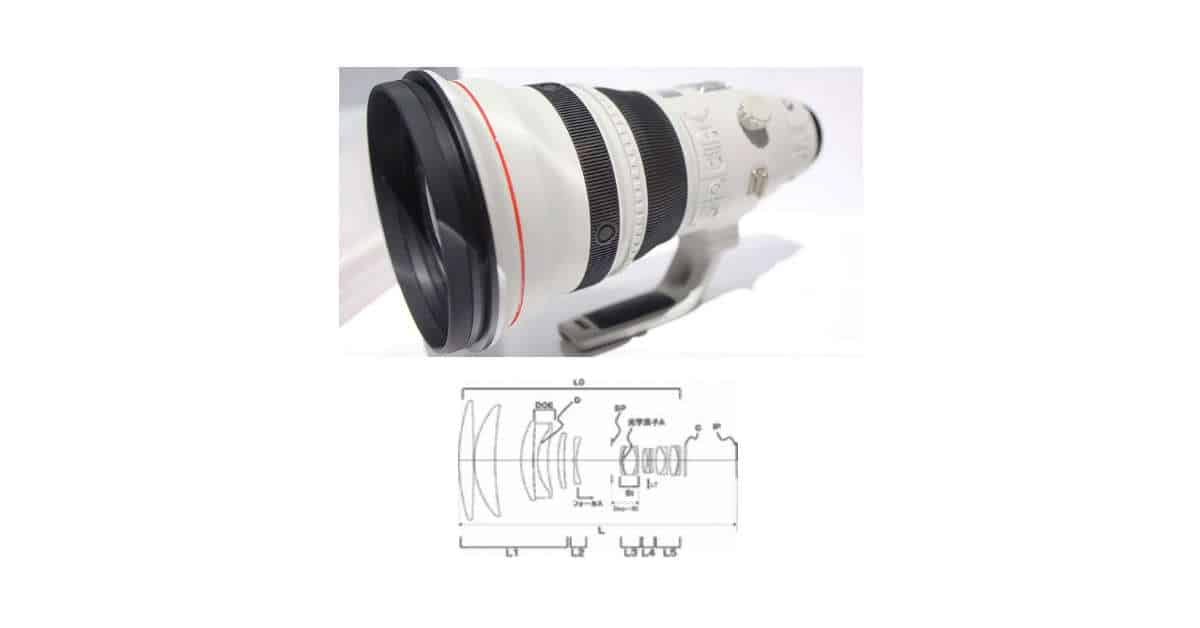 Canon EF 600MM F/4 DO IS Patent Published