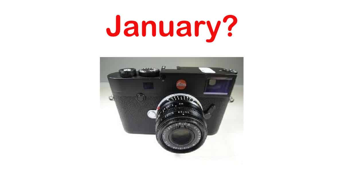 Leica M10 Announcement in January