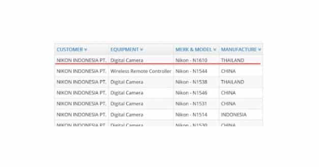 New Nikon Mirrorless Registered in Indonesia?