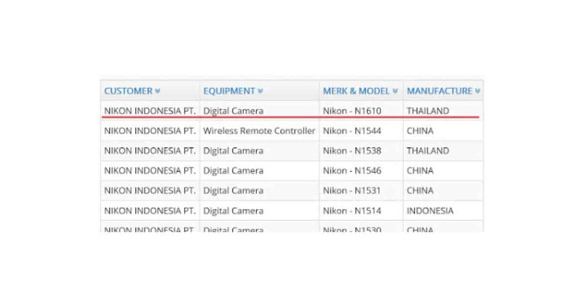 New Nikon Mirrorless Registered in Indonesia?