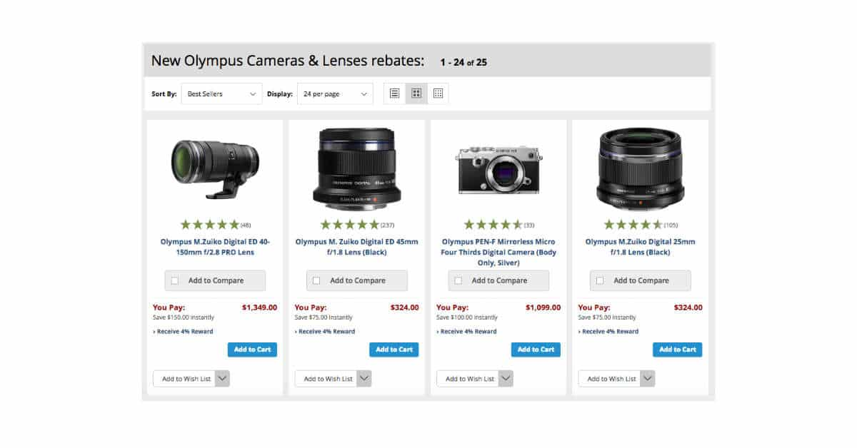 New Olympus Rebates are Live!