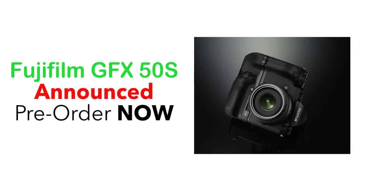 Fuji Unveils the GFX 50S Medium Format Mirrorless Camera and Three GF Lenses