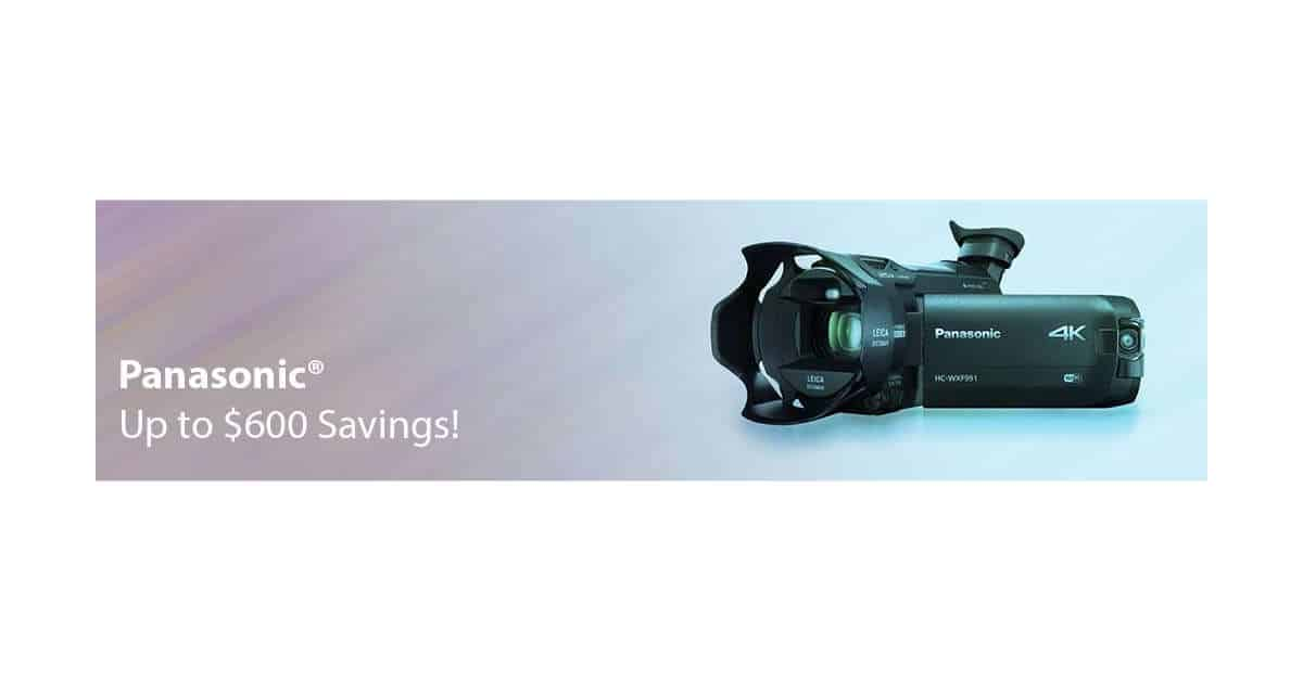 Fantastic Panasonic Savings at B&H Photo