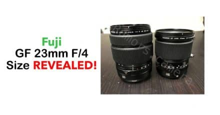Fujifilm GF 23MM F/4 R LM WR Image and Size Comparison, 110mm and 45mm Images Included!
