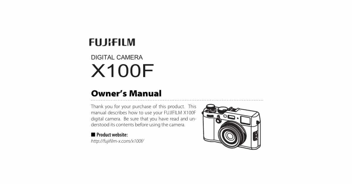 Download the X100F User Manual!