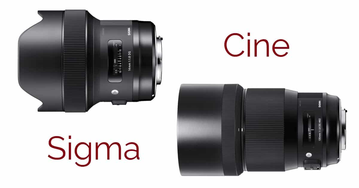 Cinema Versions of Sigma's New 14mm F/1.8 and 135mm F/1.8 Art Lenses on the Way