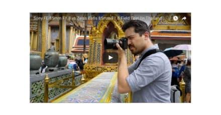 Sony 85mm f/1.8 FE versus Zeiss Batis 85mm f/1.8 at TheCameraStoreTV