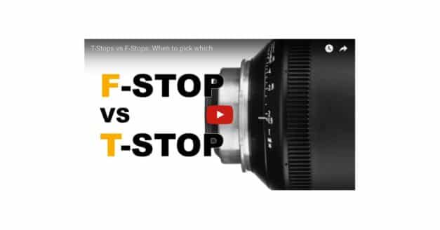 T-Stops Vs F-Stops, an Informative Video…