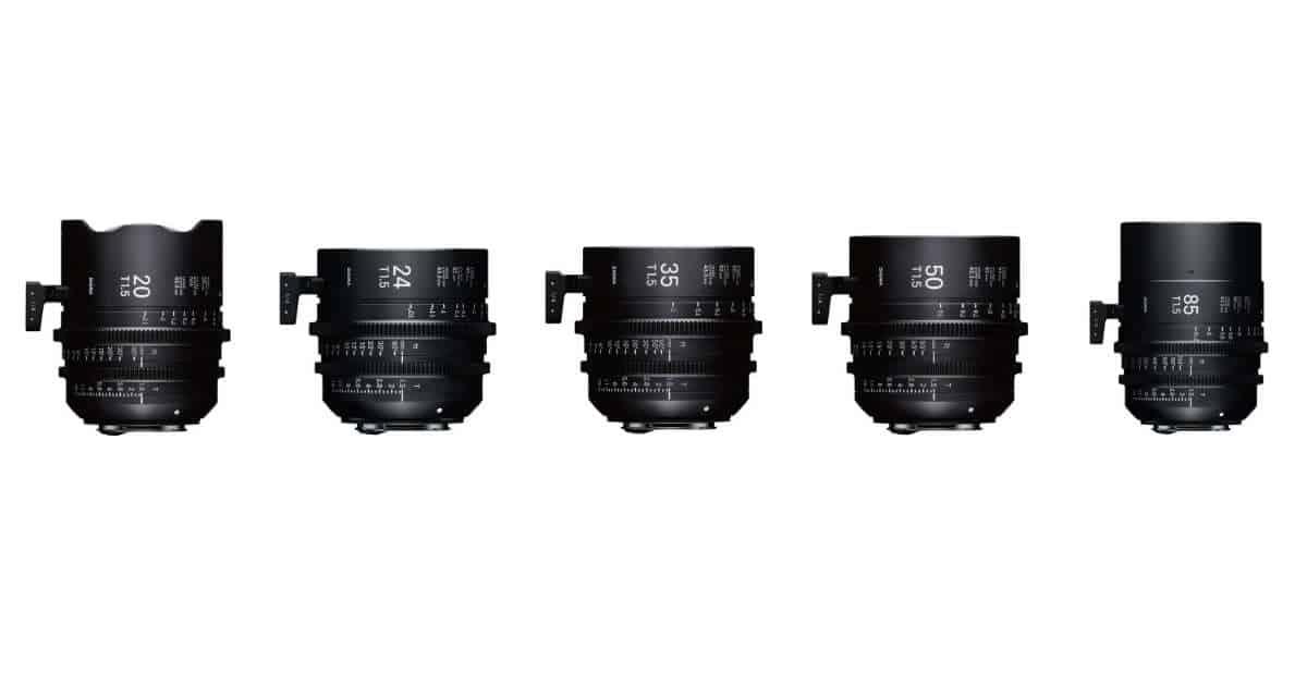 Pre-Order Sigma's new T1.5 Full Frame Cinema Primes!