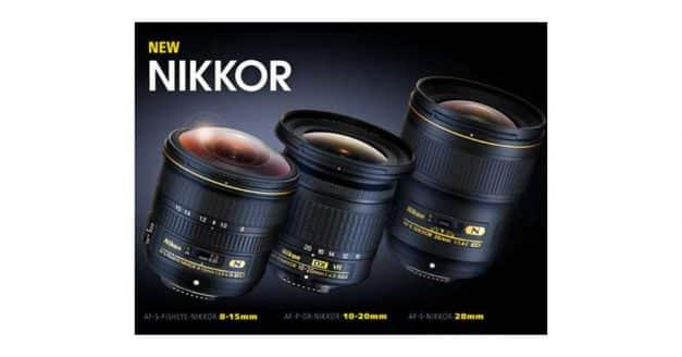 Nikon Announce AF-S Fisheye NIKKOR 8-15mm f/3.5-4.5E ED, AF-S NIKKOR 28mm f/1.4E ED, and AF-P DX NIKKOR 10-20mm f/4.5-5.6G VR