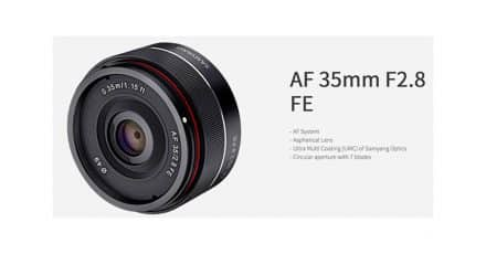 Samyang Announce the 35mm f/2.8 FE autofocus lens