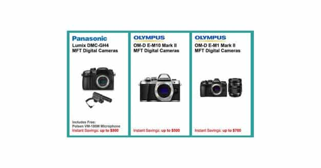 Save Upto $900 off on GH4 bundles and up to $700 off on E-M1II bundles!
