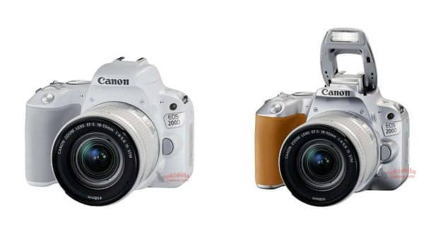Canon EOS 200D / Rebel SL2 in White and Silver Leaked!