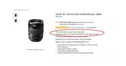 New Fuji XF 27mm F/2.8 and XF 18-135mm F/3.5-5.6 WR OIS On the way?