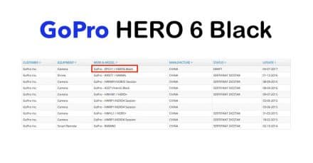 GoPro HERO 6 Black Edition Registered, Coming Later This Summer!