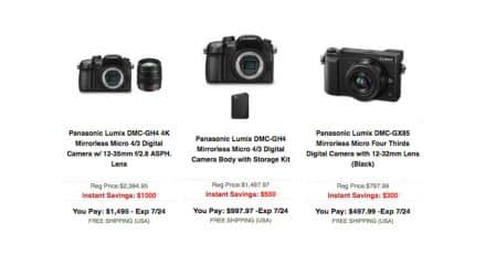 New Panasonic Deals at B&H Photo. 4 Days Only!