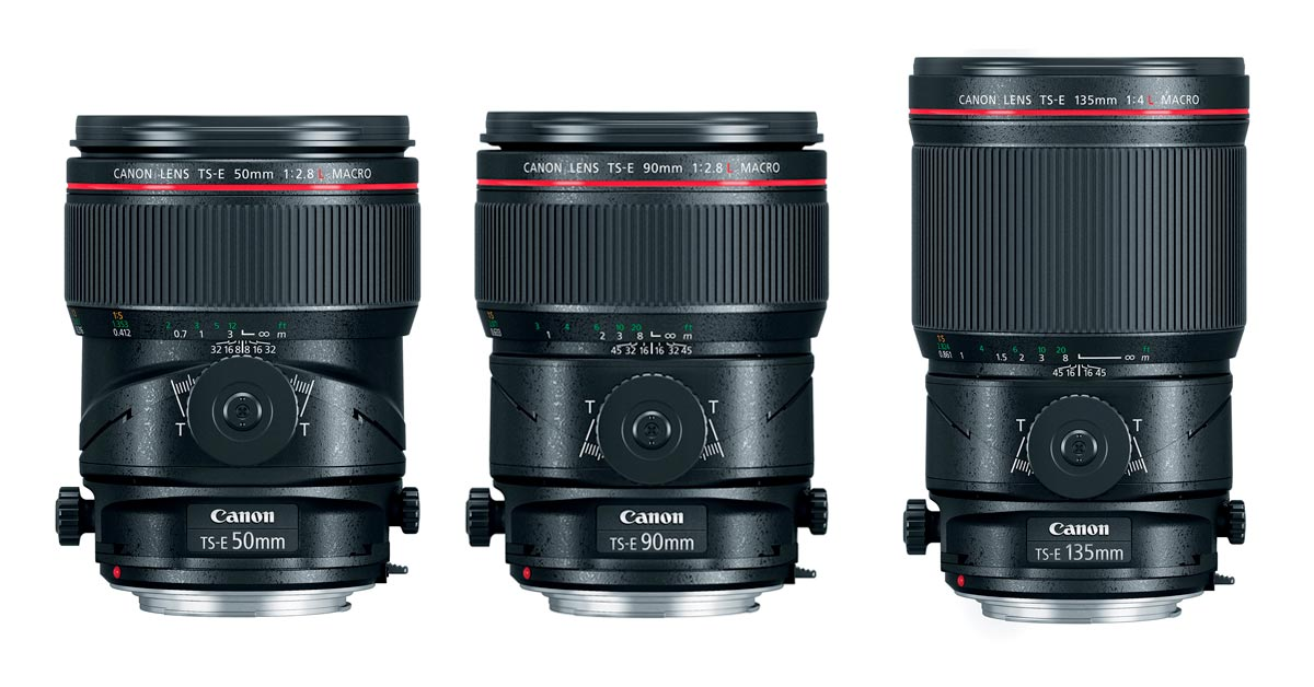 Trio of New Canon Tilt-Shift Macro Lenses Launched