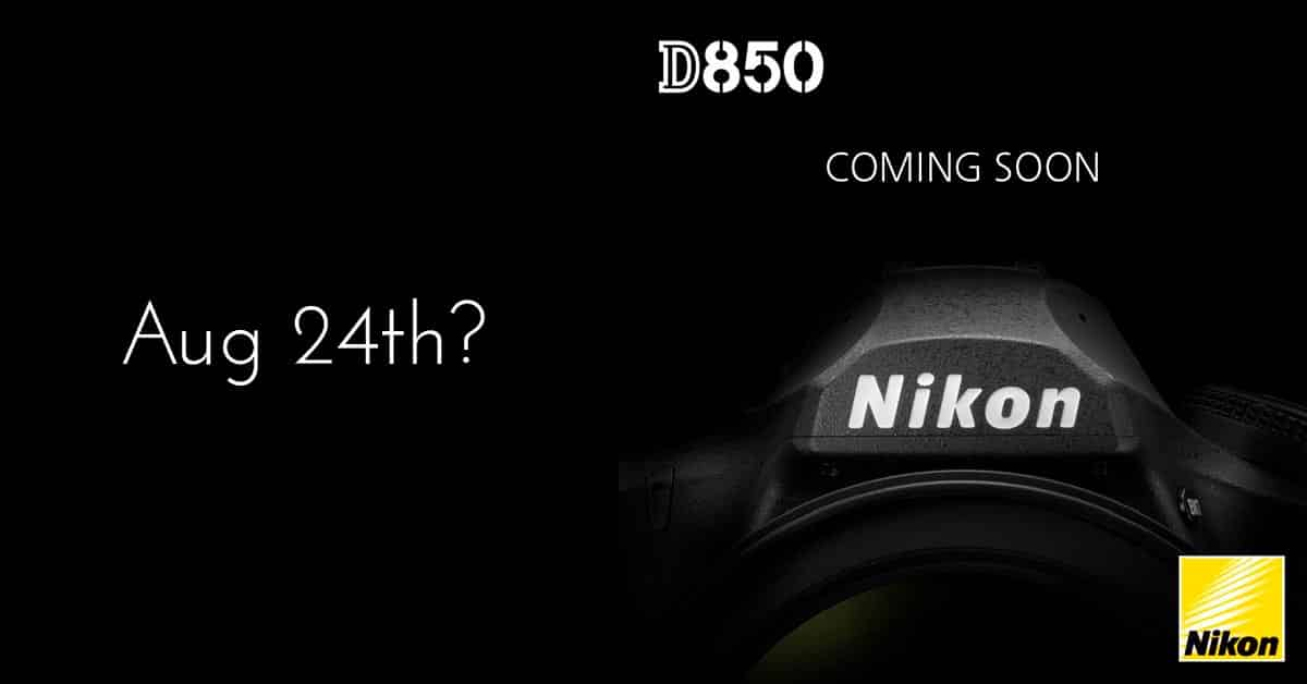 Nikon D850 Release Date: August 24th?