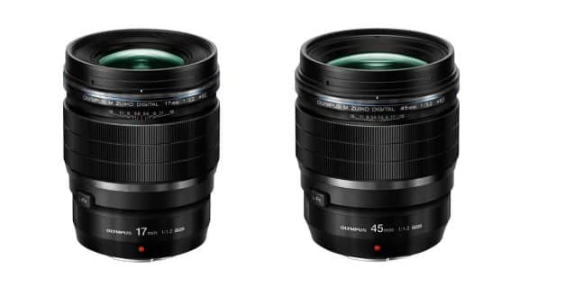 Olympus Announce M.Zuiko Digital 17mm F/1.2 and 45mm F/1.2 PRO Lenses
