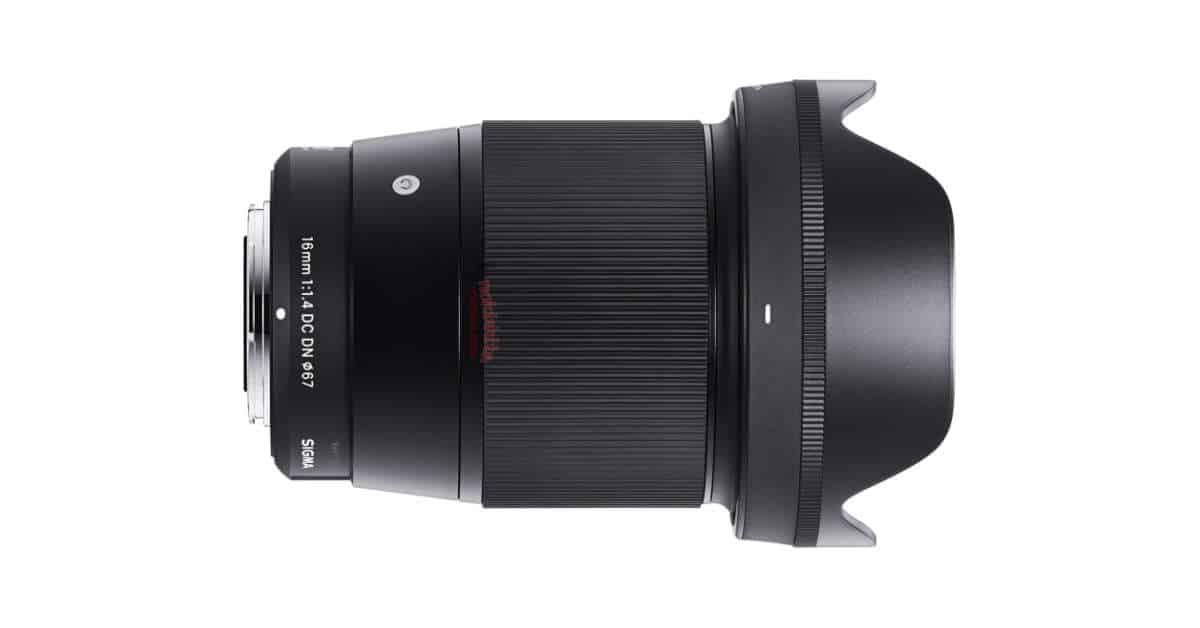 Sigma 16mm f/1.4 DC DN Contemporary Lens LEAKED!