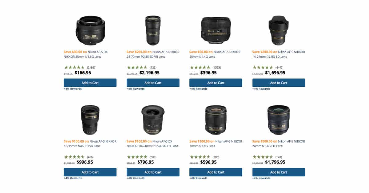 New Nikon Specials at B&H Photo!