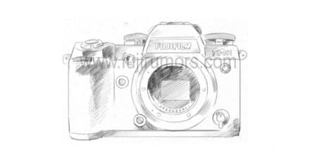 'Accurate' Sketch of the Fuji X-H1 Leaked