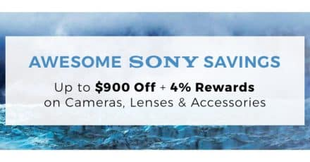 Huge Sony Savings Start TODAY, $900 OFF!