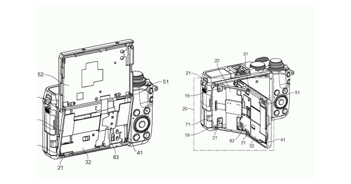 Canon Patent new Tilting Touchscreen for EOS M Cameras