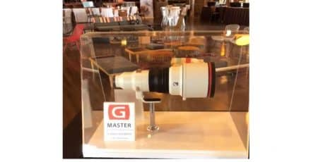 'Near Production' version of the 400mm F/2.8 GM FE on Display
